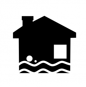 image icon of water damage house