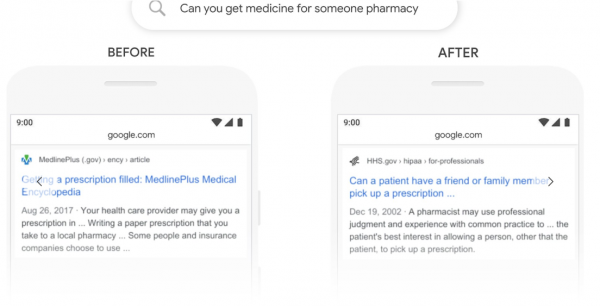 Google Algorithm BERT - Pharmacy Search Example